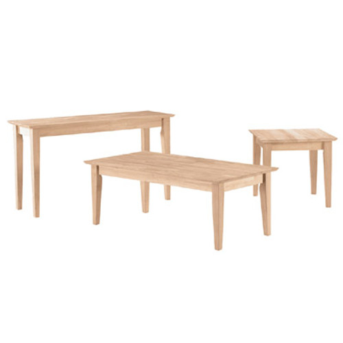 Shaker Style 3-Piece Coffee Table Set