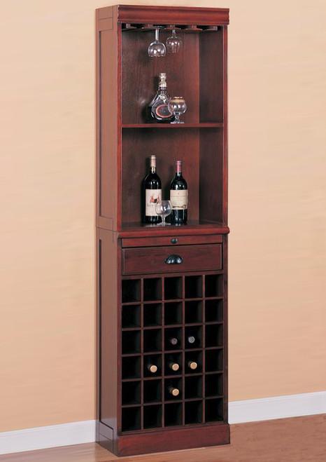 5038ff4e13 Traditional Wine Wall Bar Unit   Coaster Fine Furniture