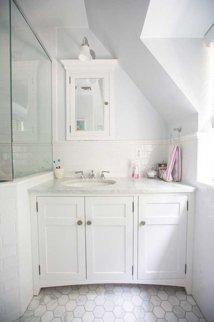 CUSTOM - Elegant White Bathroom Cabinets