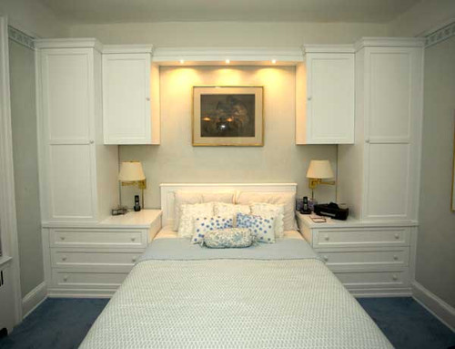 CUSTOM - White Built-In Wall Unit With Bed