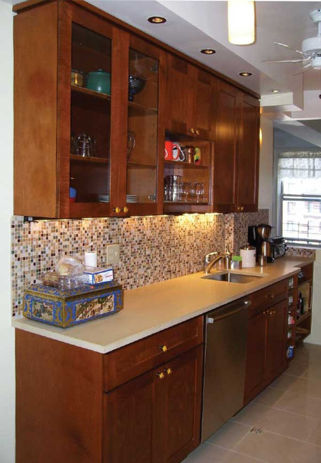 Custom - Brown Stained Apartment Kitchen