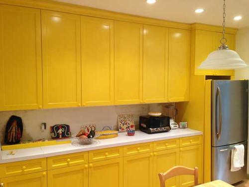 CUSTOM - Bright Yellow Kitchen