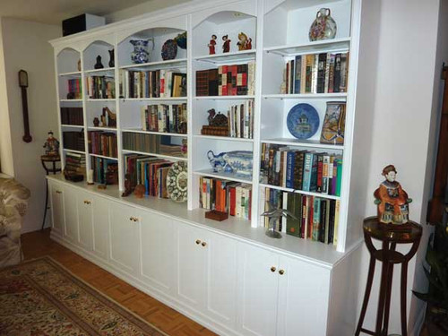 CUSTOM - White Bookshelf Wall Unit