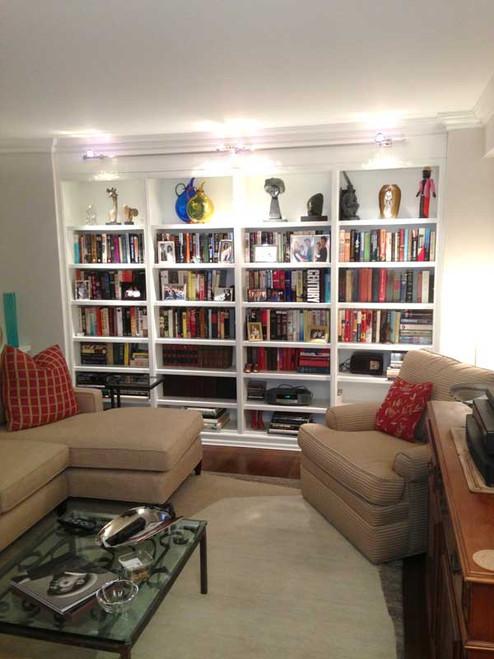 CUSTOM - Built In White Bookshelf