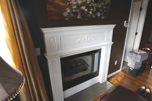CUSTOM - White Fireplace Mantel