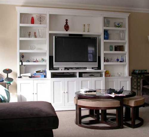 CUSTOM - White Entertainment Center