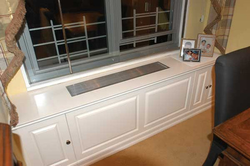 CUSTOM - Built-In White Radiator Cover With Top Vent