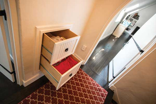 Custom - Built In Drawers Inside Wall