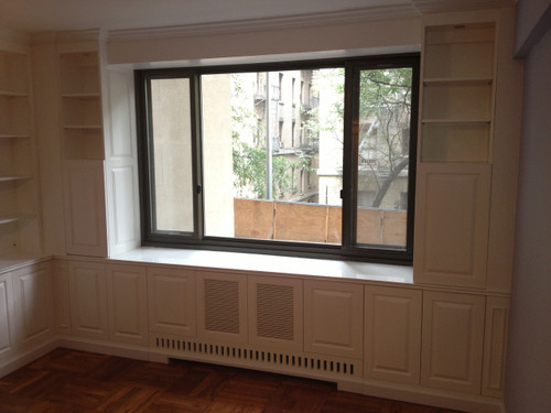 CUSTOM - Built-In Wall Unit With Radiator Cover