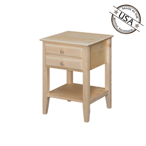 End Table WIth Shelf and Drawer