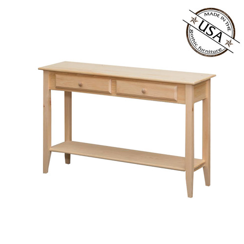 Sofa Table WIth Shelf and Drawers