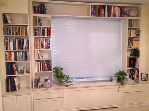 Custom - Built-In Wall Unit With Radiator Cover in White