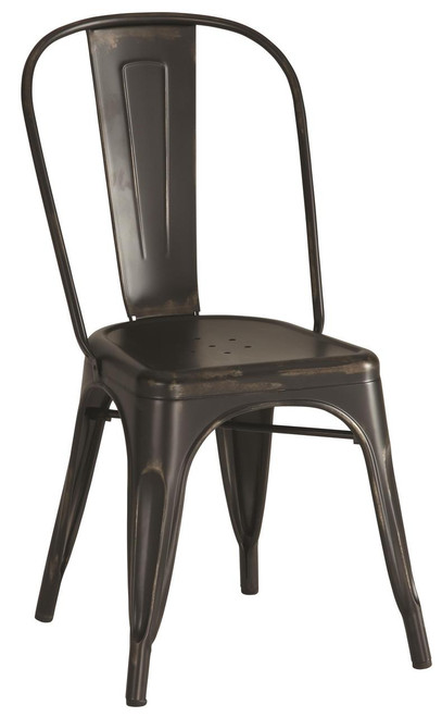 Industrial Chairs - Rustic Black | 4 Pack