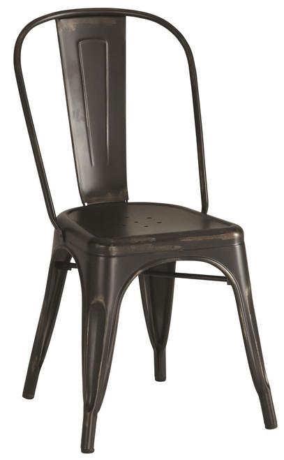 Industrial Chairs - Rustic Black | 4 Pack