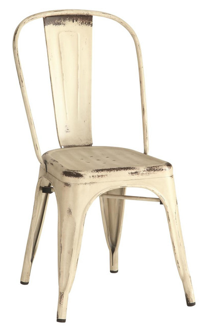 Industrial Chairs - Rustic White | 4 Pack