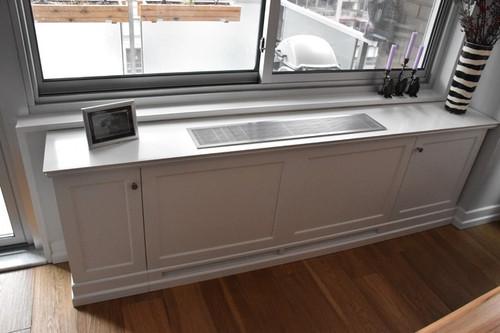 CUSTOM - Window Sill Radiator Cover in White