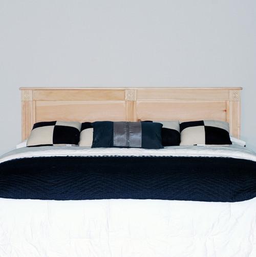 Clearance - Queen Rosettes Headboard - 2¼ x 61½ x 40 | Oak Wood