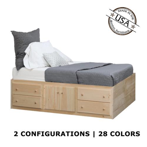 Twin Storage Bed   Pine