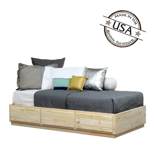 Twin Captains Bed 3 Drawers | Pine Wood