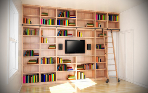 Custom - Modern Bookcase Entertainment Wall Unit