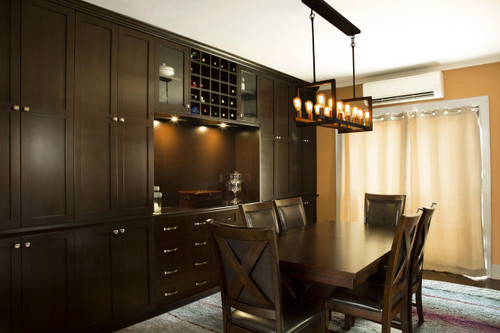 CUSTOM - Built In Dining Room Wall Unit