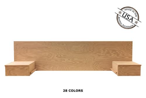 Full Floating Nightstands 16 x 88 x 24 | Oak Wood