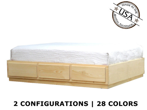 Full Captains Bed 3 - 6 Drawers | Pine Wood