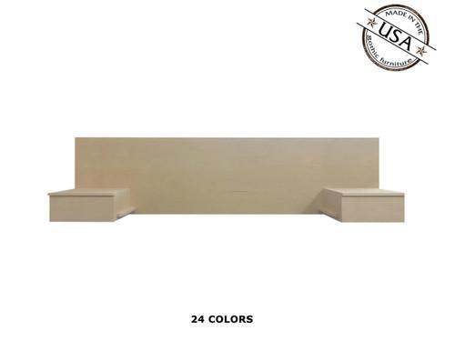 Twin Floating Nightstands 16 x 72 x 24 | Birch Wood