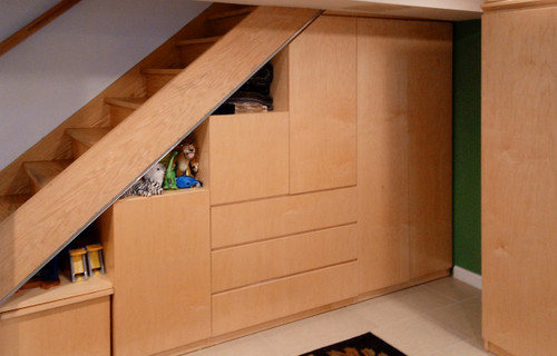 Custom - Staircase Ladder Storage