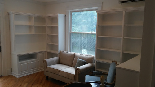 CUSTOM - Built In Wall Unit in White