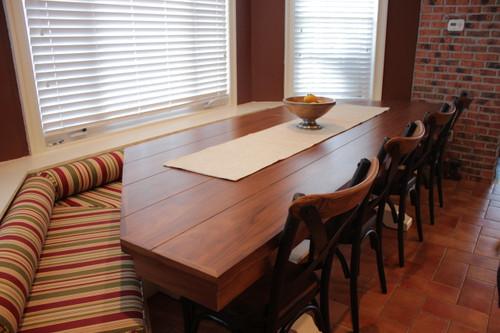 CUSTOM - Two-Tone Pedestal Table