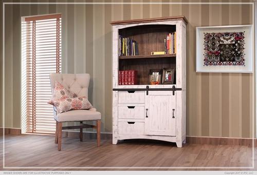 Pueblo Bookcase - White