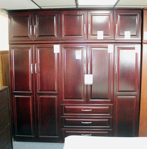 Raised Panel Wall Closet System 6 Piece Set - FLOOR MODEL