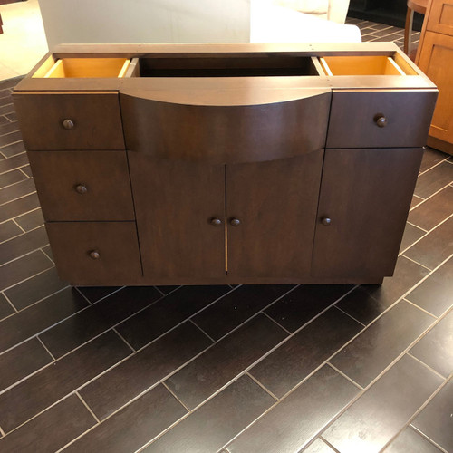 Custom Bow Front Large Vanity - Floor Model