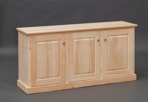 Pine Storage  Cabinet 17 x 62 x 30