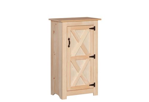 Pine Barn Door Jelly Cabinet 15 x 23 x 41