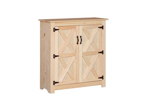 Pine Barn Door Jelly Cabinet 15 x 38 x 41