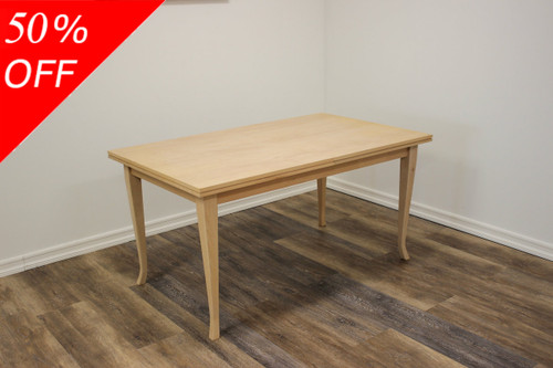 CLEARANCE - Beech Dining Table 35 x 59/77 x 30