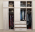 Raised Panel Wall Closet System 6 Piece Set