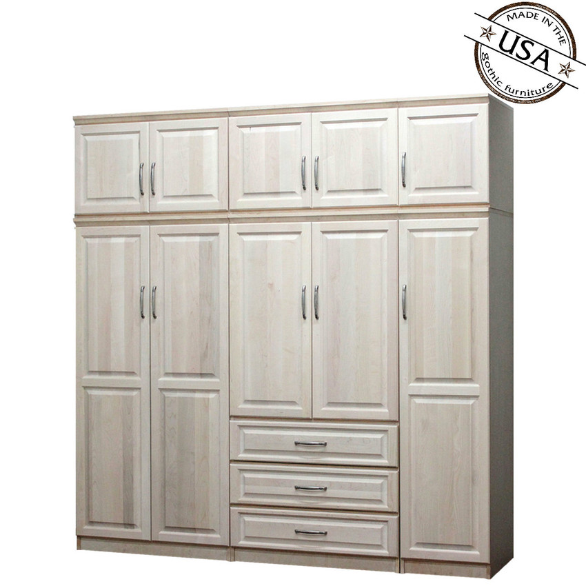 Raised Panel Wall Closet System 6 Piece Set Gothic Furniture