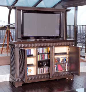 Custom Tv Cabinet With Motorized Lift Top Gothic Furniture Custom