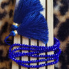 Royal Blue Beaded Bracelet with Tassel