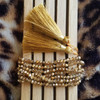 Beaded Gold Bracelet with Tassel