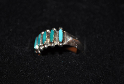 Zuni Sterling Silver w/Turquoise Ring