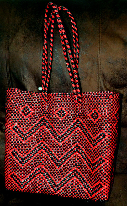 Red & Black Tote