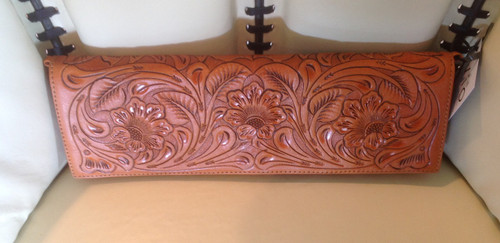 Hand Tooled Leather Long Clutch