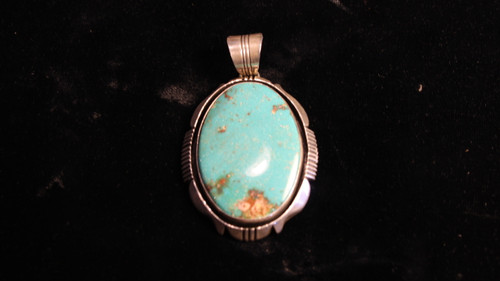 Turquoise with Silver Pendant.