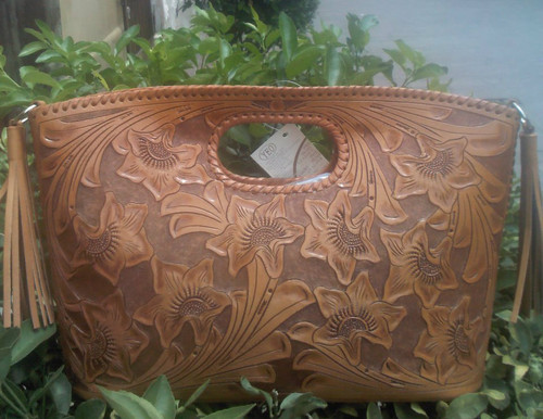 Becan Chica is the top of the line hand tooled purse.