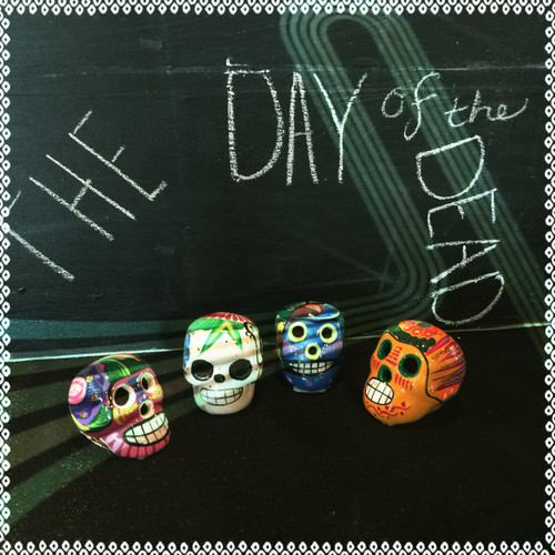 """The Day of the Dead"" handpainted skulls -small"