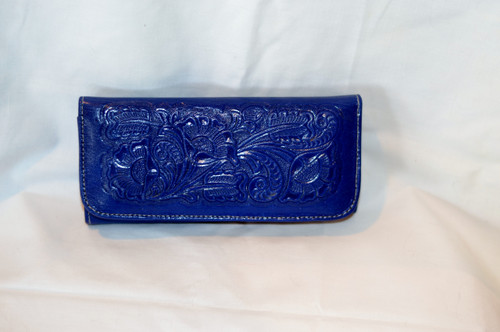 Blue lather wallet